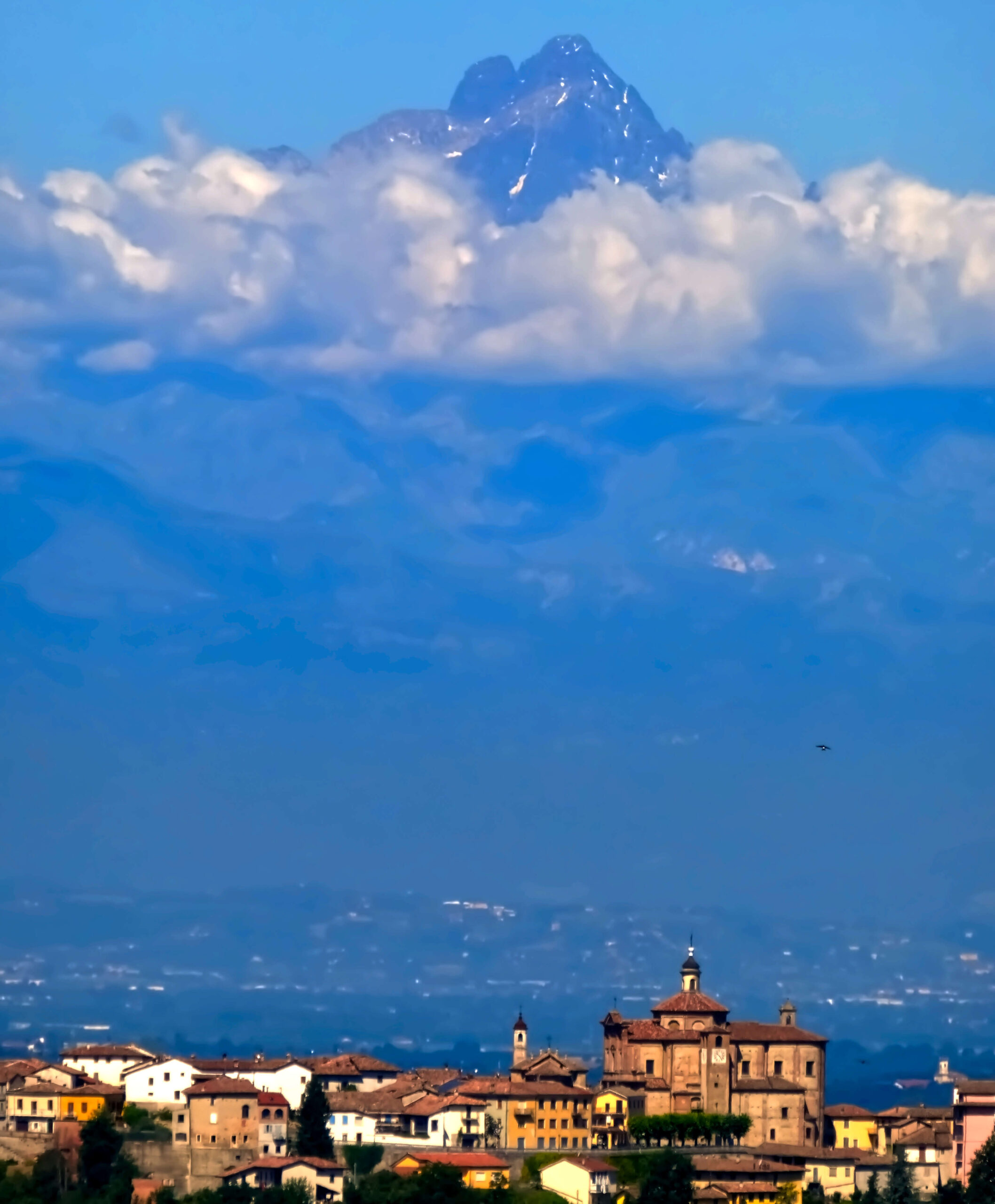 Blick zum Monte Monviso
